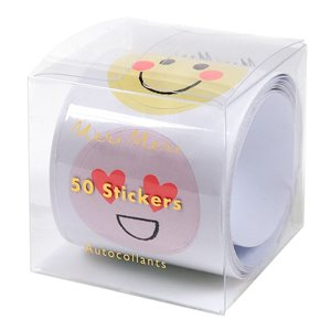 Roll of Mini Stickers happy face