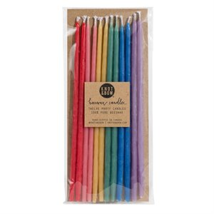 Tall party candles - rainbow