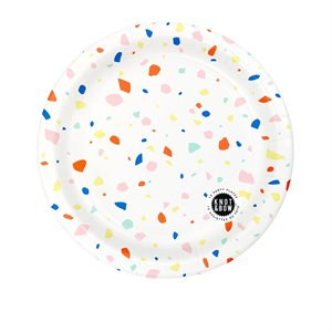 Party plates - confetti