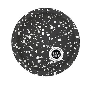 Small party plates - black confetti