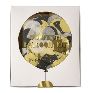 Gold and Silver Confetti Balloon Kit