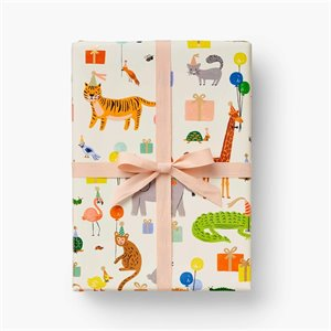 Animal Party wrapping sheets