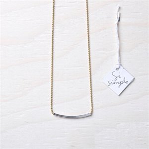 Cate necklace - gold (short)