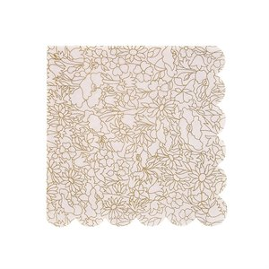 Gold Flowers Napkins