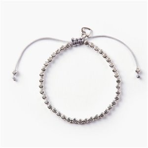 Evelyne bracelet - silver with gray thread
