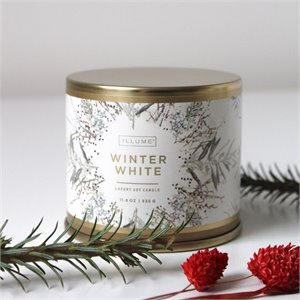 Large tin candle - Winter white