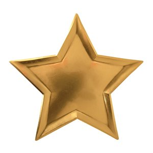 Star paper plates - gold