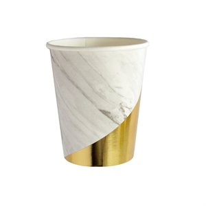 Marble Colorblock Party Cups