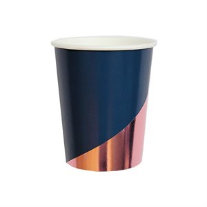 Navy Colorblock Party Cups