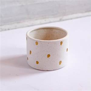 Stoneware planter - Gold