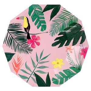Pink Tropical Large Plates