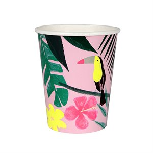 Party Cups - pink tropical