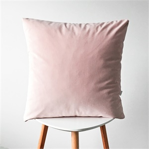 Coussin velours - rose