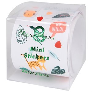 Roll of Mini Stickers - Jungle