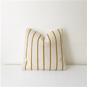 Striped pillow - Yellow