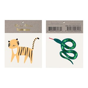Tigre and snake tattoos