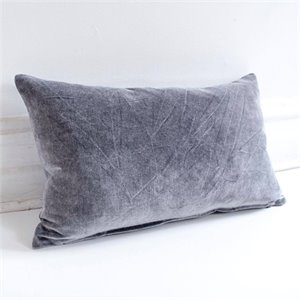 Coussin Vera - velours charcoal