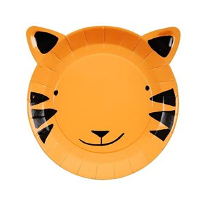 Small paper plates - Tiger