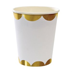 Party Cups - Gold scallop