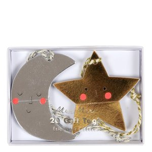 Gift tags - moon and star