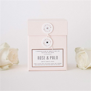 Double stems candle - Rose and Palo