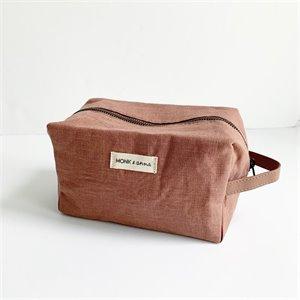 All Buk Nola Radiant Backpack Alligator Travel Bag Nude Pink