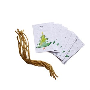 8-pack holiday gift tags - Christmas tree