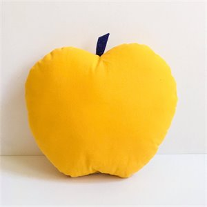 Apple cushion - Yellow
