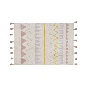 Tapis naturel aztec - rose