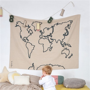 Wall hanging canvas map