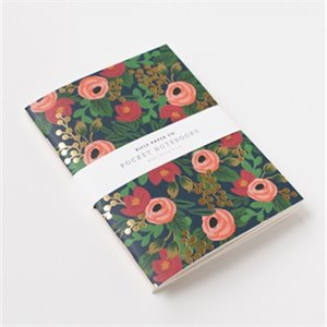 Set of 2 notebooks - flowers and polka dot
